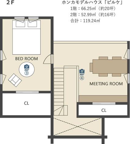 モデルハウス間取り図2階