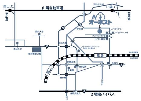 オーネスト簡易地図
