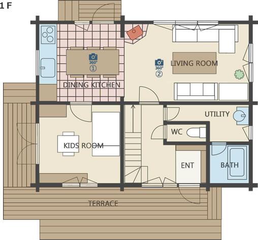 モデルハウス間取り図1階